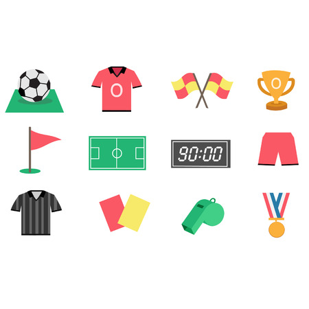 offside: Football icon set