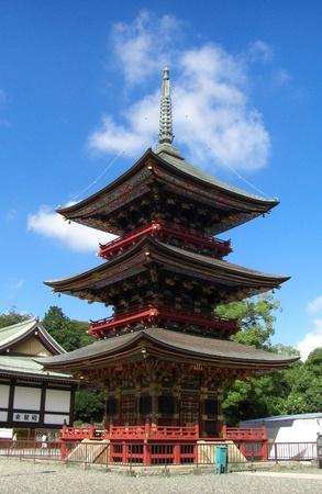 storied: Three-storied pagoda at Naritasan Editorial