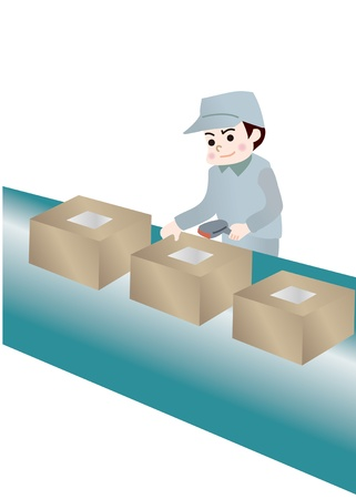 Illustration of Workers  Vector