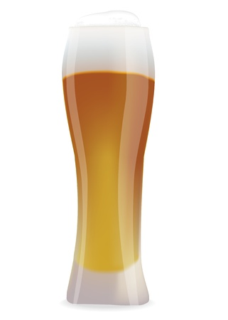 yale: Illustration of beer poured into a tumbler Illustration