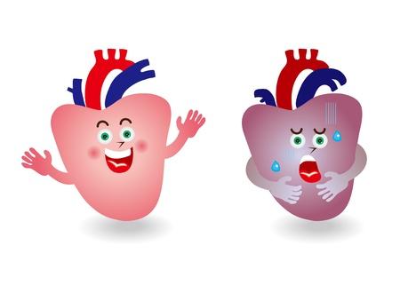 visceral: Character illustration of heart