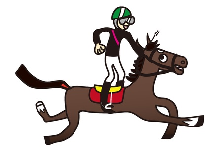 horse racing: Illustration of a horse and jockey racing Illustration