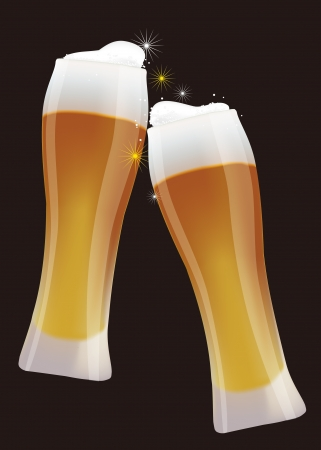 millet: Cheers! Illustration of beer