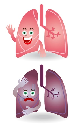 Character Illustration in the lungs Stock Vector - 16212835