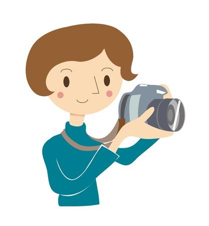 Mujer que utiliza la cámara