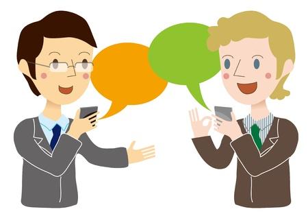 Conversations with translation app Illustration