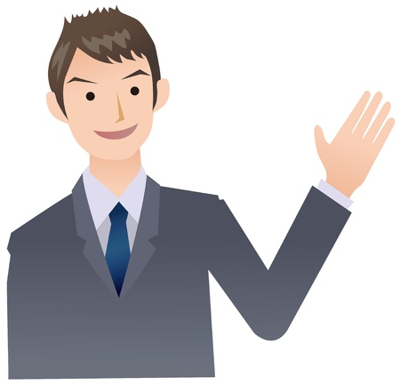 introduce: Businessmen to introduce Illustration