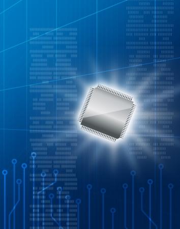 semiconductor: Semiconductor technology image Stock Photo