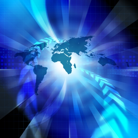 Afbeelding wereldwijde netwerk Stockfoto