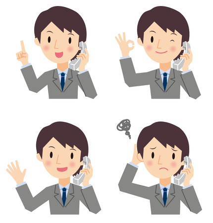 Business people on the phone Vector