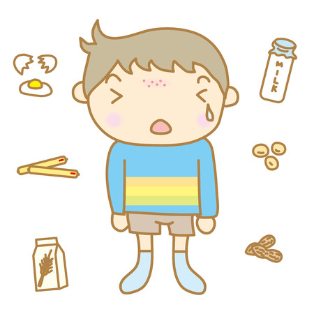 Children food allergy Illustration