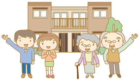 daughter in law: Two-family dwelling Illustration