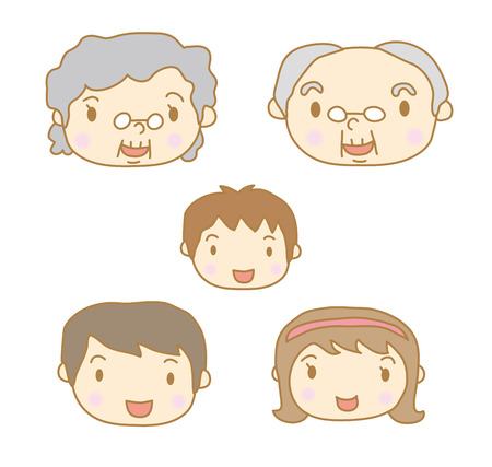 Family smile Vector