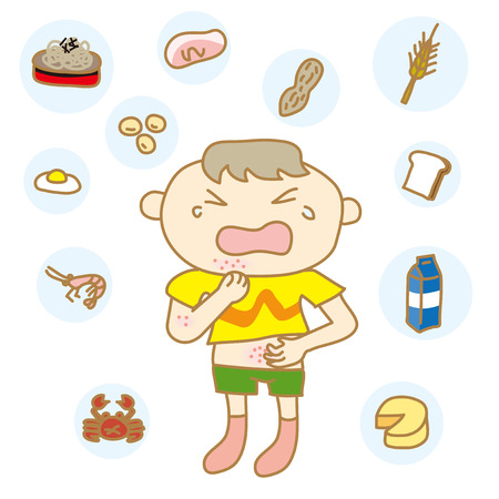 Kinder mit Nahrungsmittelallergien Standard-Bild - 25495504