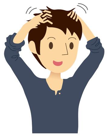 Los hombres que tienen masaje en la cabeza Foto de archivo - 25495557
