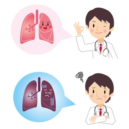 lung disease: I hear the diagnosis result of lung from doctor
