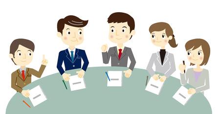 Business team hebben een vergadering Stock Illustratie