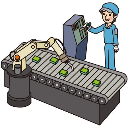 Mannelijke werknemers die werkzaam zijn in de fabriek