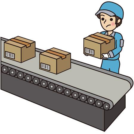 man carrying box: Man carrying a cardboard box