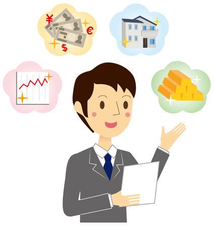 Man of Financial Planner Illustration