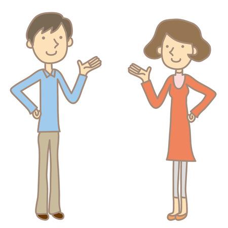 Couples have a conversation
