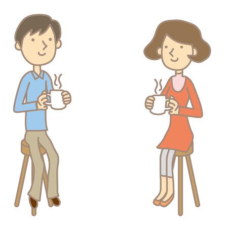 break in: Las parejas se toman un descanso Vectores