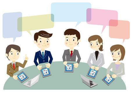 Business team tijdens een vergadering