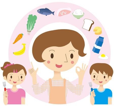 Dietary education Vector