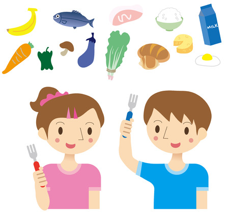 likes: Eating habits of children Illustration