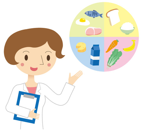 Vrouw voedingsdeskundige Stock Illustratie