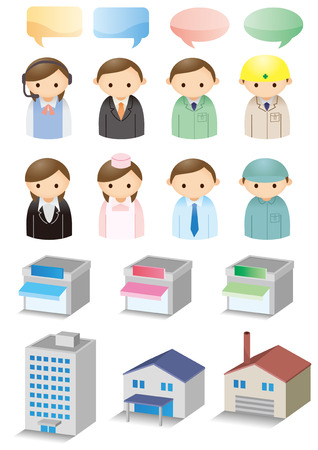Icon material for business Ilustrace