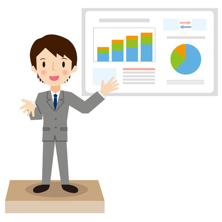 Businessman have a presentation