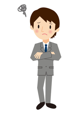 Businessman with his arms folded Illustration
