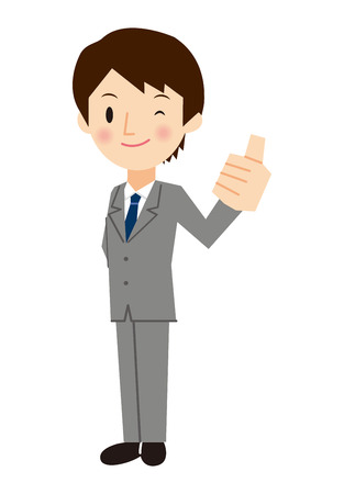 thumbsup: Businessman give a Thumbs-up sign