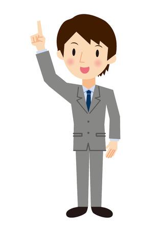 Businessman pointing pose