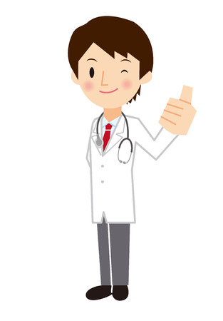 Mannelijke arts stellen als Stock Illustratie