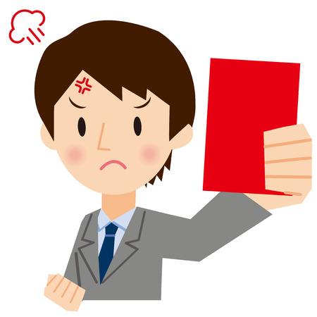 violation: Businessman to show a red card
