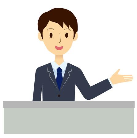 municipalities: Man of the reception desk Illustration