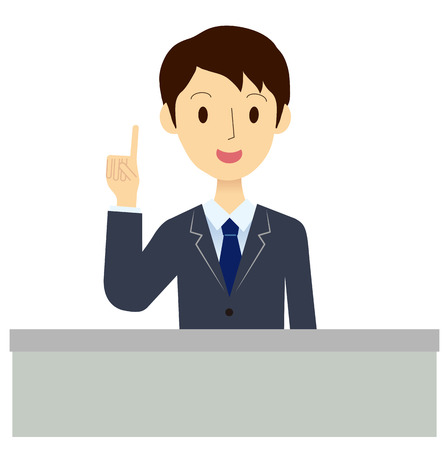 suggestions: Man of the reception desk Illustration