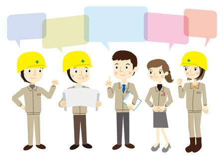 People dressed in work clothes 版權商用圖片 - 37103164