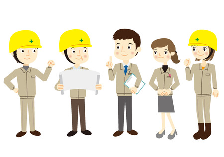 ropa trabajo: Gente vestida en ropa de trabajo Vectores