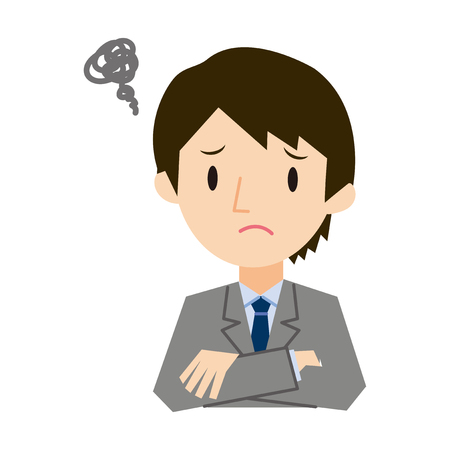 anguish: Various expressions of businessman