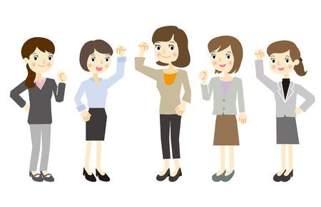 Alleen vrouwen business team Stock Illustratie