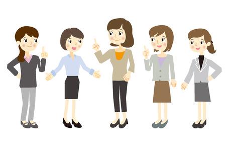 Seules les femmes de l'équipe de l'entreprise Banque d'images - 37103196