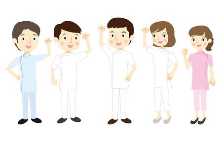 equipe medica: Equipe medica Vettoriali