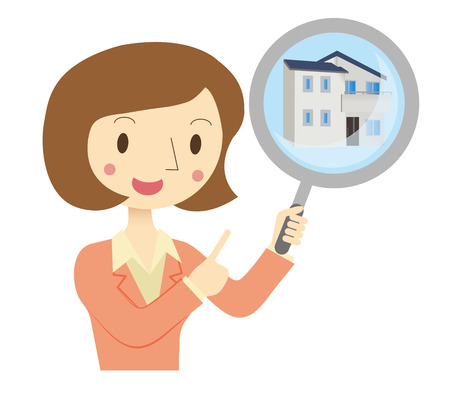 Business Woman to assess the real estate