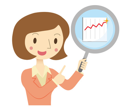 Business Woman to assess the financial Stock Vector - 38153810