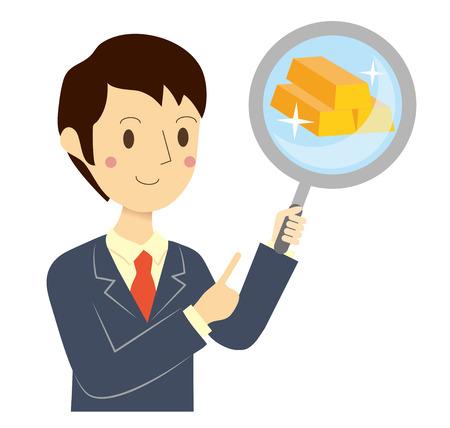 実業家財務評価  イラスト・ベクター素材