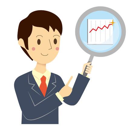 financial condition: Businessman financial assessment