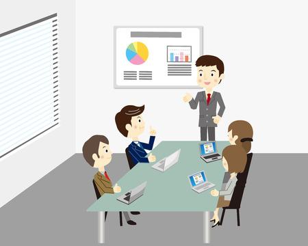 Reunión del equipo de negocios